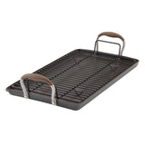 "Advanced 10"" x 18"" Double Burner Griddle with Multi-Purpose Rack"