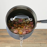 Advanced Home 2-Quart Straining Saucepan