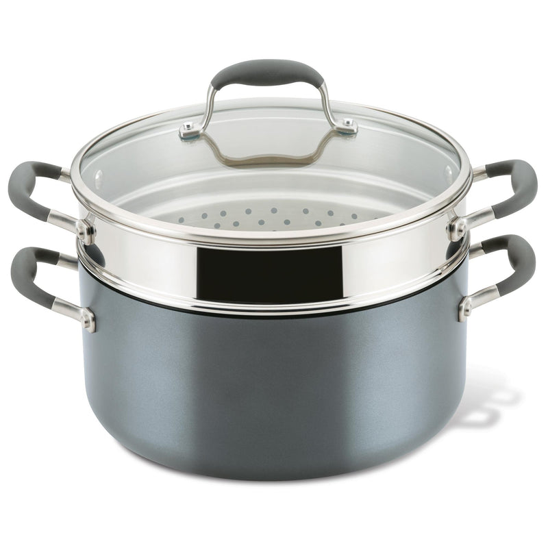 Advanced Home 8.5-Quart Wide Stockpot with Multi-Function Insert