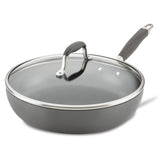 Advanced Home 12-Inch Deep Nonstick Frying Pan with Lid