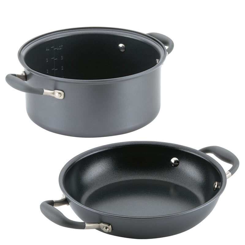 "Advanced Home 5-Qt. & 10"" Round Two Step Meal Set"