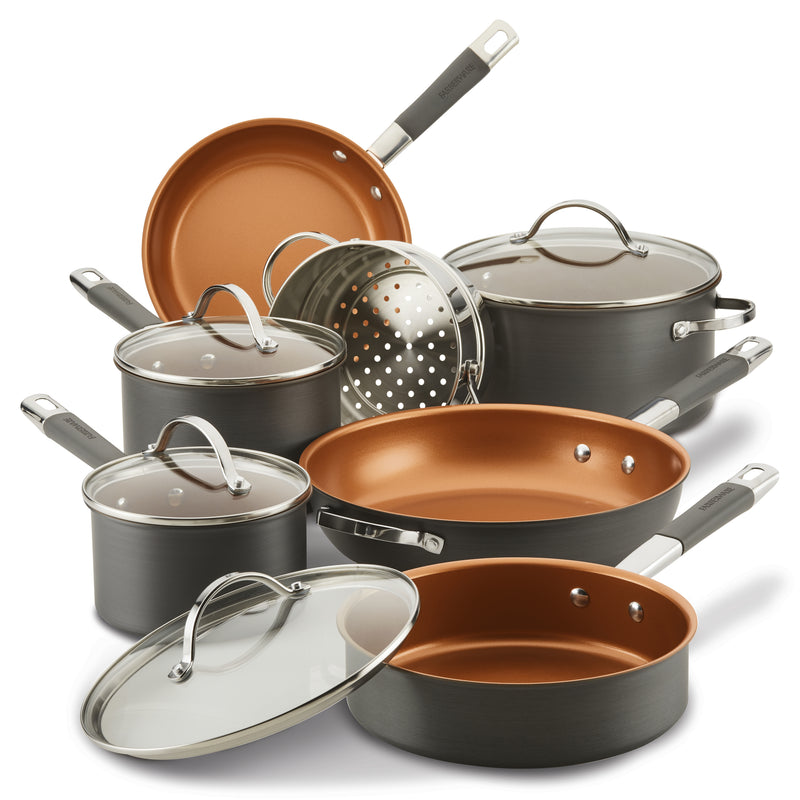Hard Anodized Ceramic 10-Piece Nonstick Cookware Set