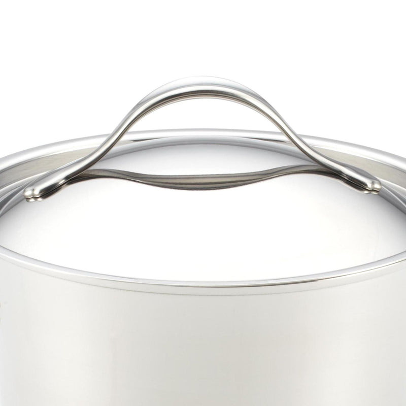 Nouvelle Copper Stainless Steel 3.5-Quart Saucepan with Straining Lid