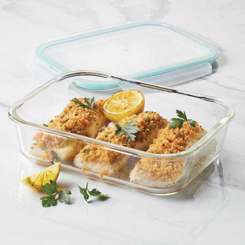 Purely Better™ Glass 2-Piece 51-Oz. Rectangular Container Set