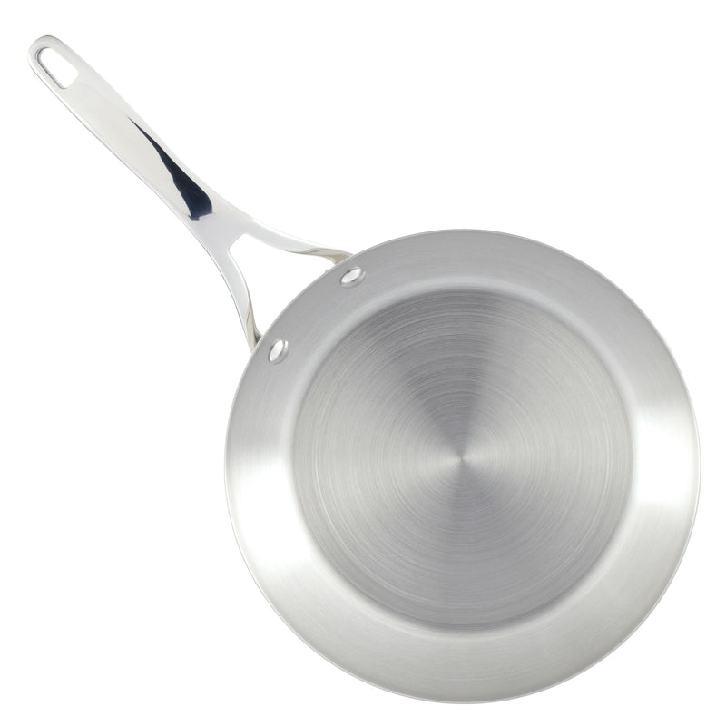 Nouvelle Copper Stainless Steel 12-Inch Covered Frying Pan