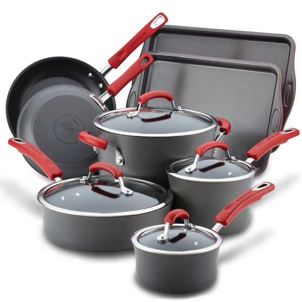 12-Piece Hard Anodized Cookware Set with Baking Sheets