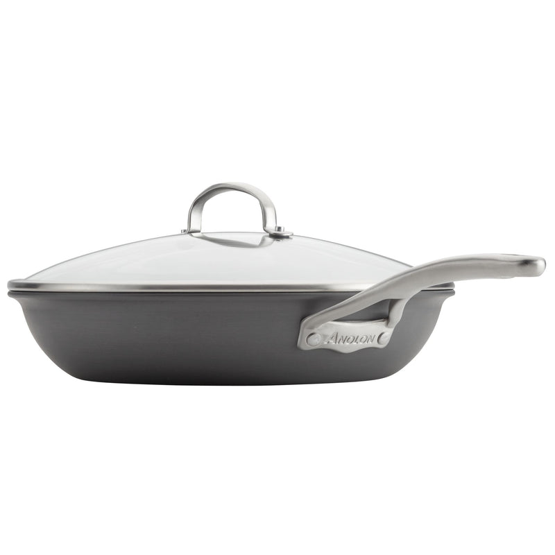 "Allure 13.75"" Frying Pan with Helper Handle"