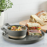 "Soup and Sandwich Set 10"" Round Plate & 12 Oz Bowl"