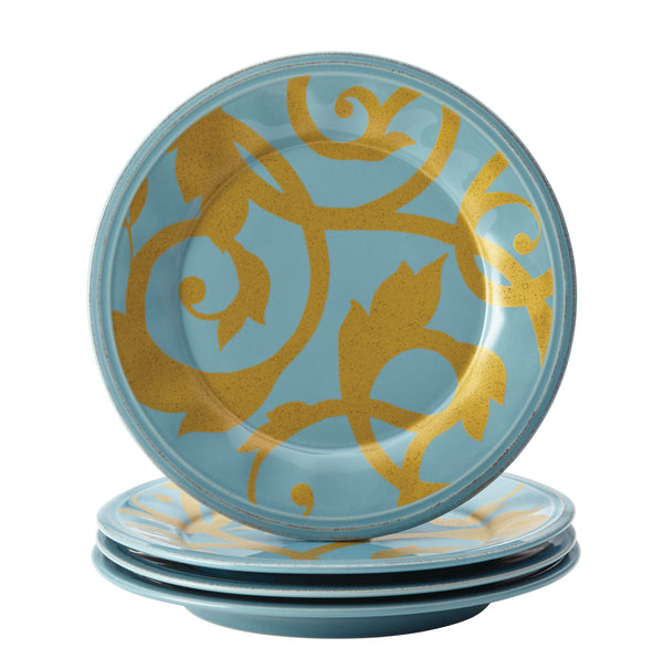 Gold Scroll 8-Inch Salad Plate