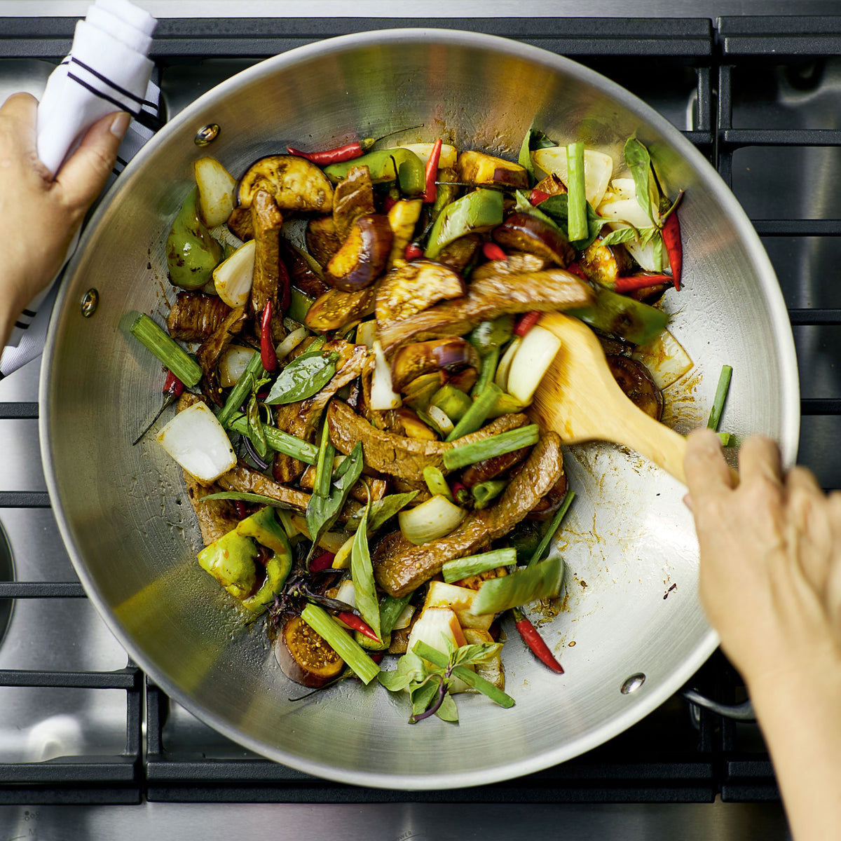 5-Ply Clad Stainless Steel 15-Inch Wok