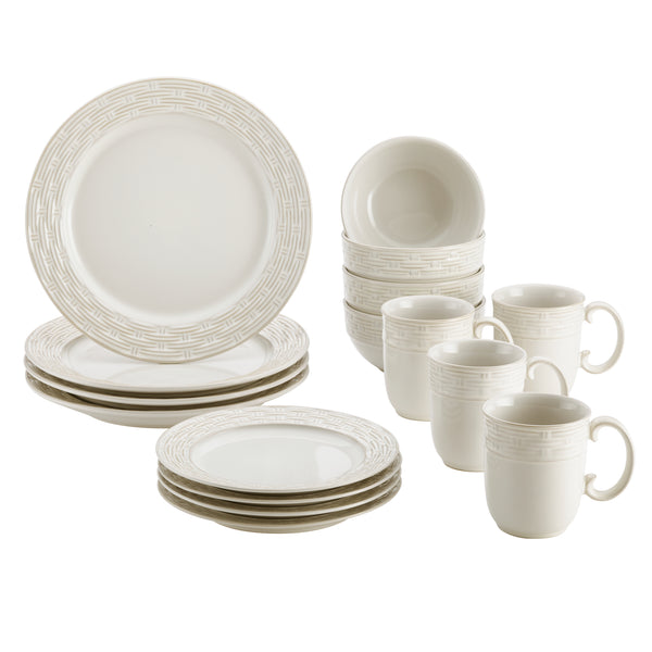 Vineyard Basket 16-Piece Dinnerware Set