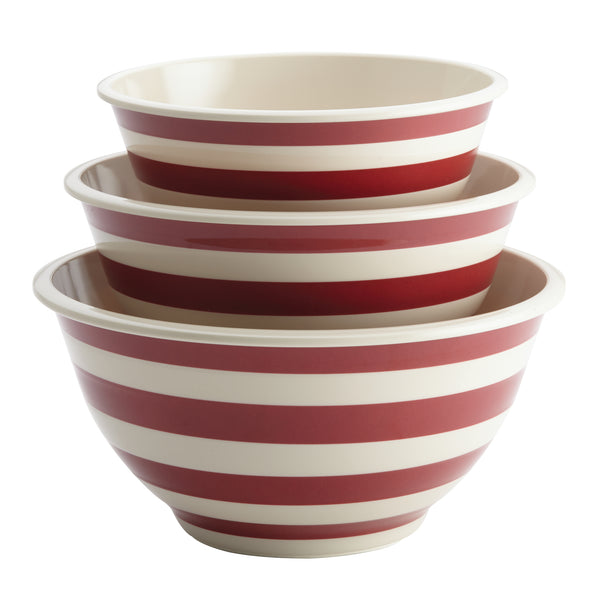 Striped 3-Piece Mixing Bowl Set