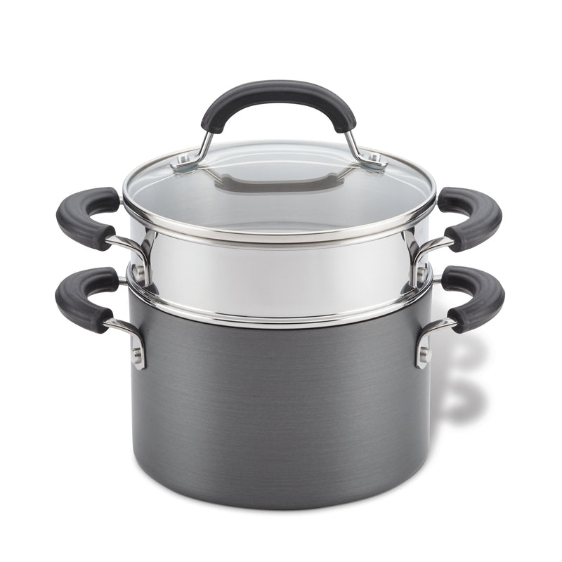Nonstick 3-Quart Saucepot with Steamer Basket