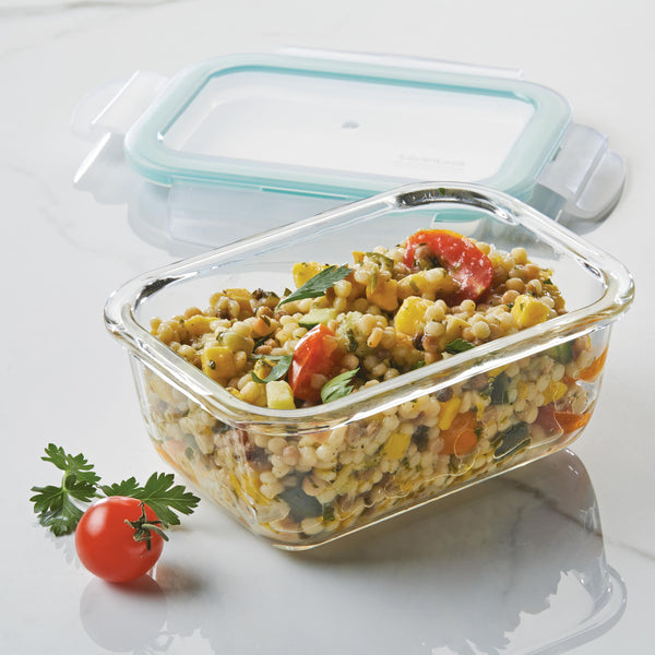 Purely Better™ Glass 4-Piece 14-Oz. Rectangular Container Set
