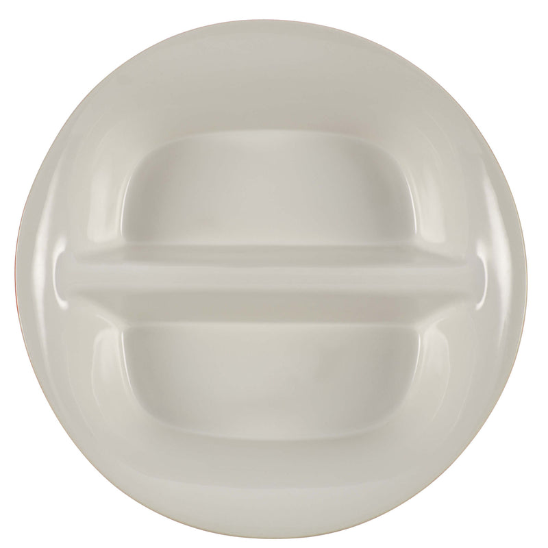 Round and Square 12-Inch Divided Serving Dish