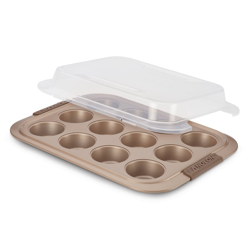 Advanced Covered Muffin Pan with Silicone Grips
