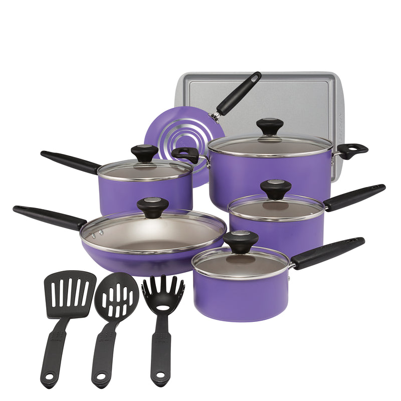 Culinary Colors 15-Piece Cookware Set