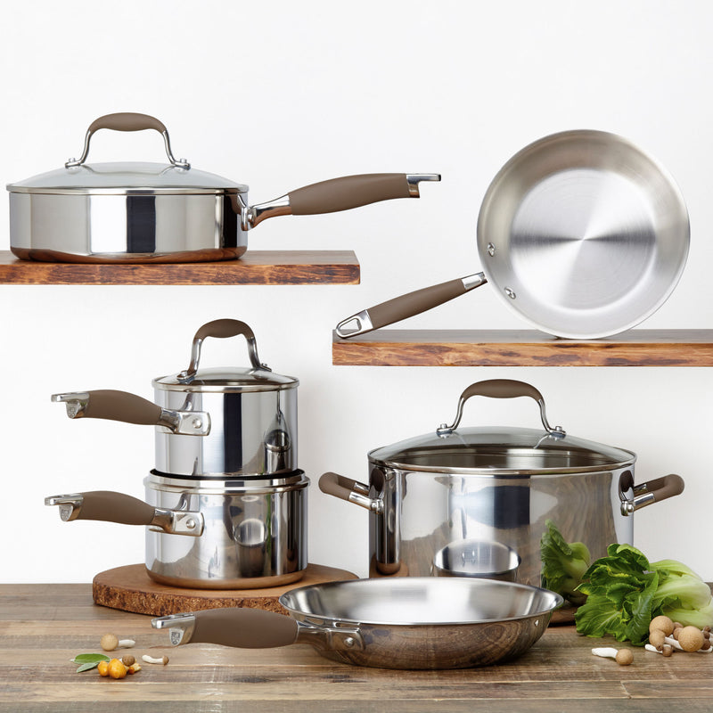 Advanced Tri-Ply 10-Piece Cookware Set