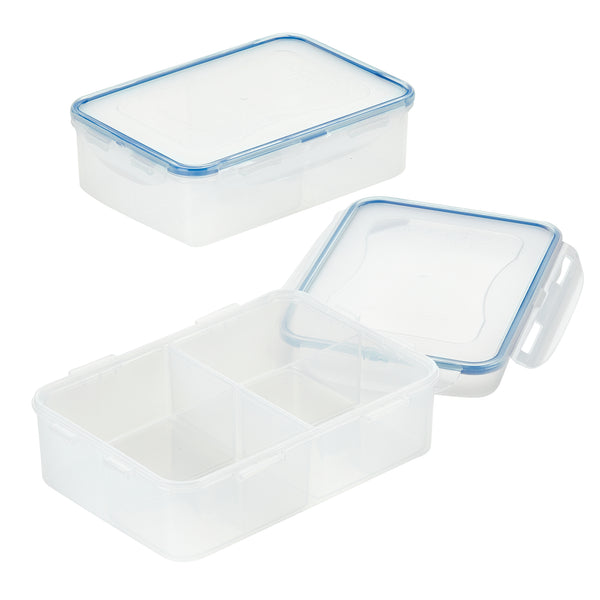 Easy Essentials 2-Piece 54-Oz. Divided Rectangular Container Set