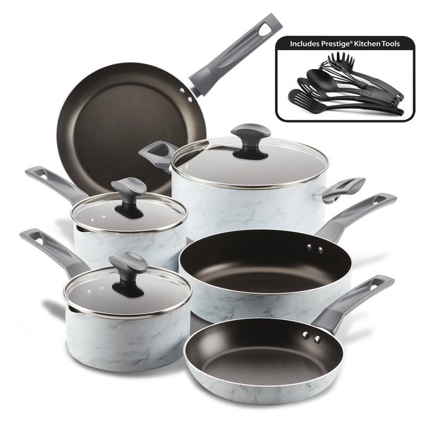 Easy Clean Pro Marble 14-Piece Nonstick Cookware Set