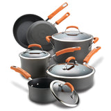 10-Piece Hard Anodized Cookware Set
