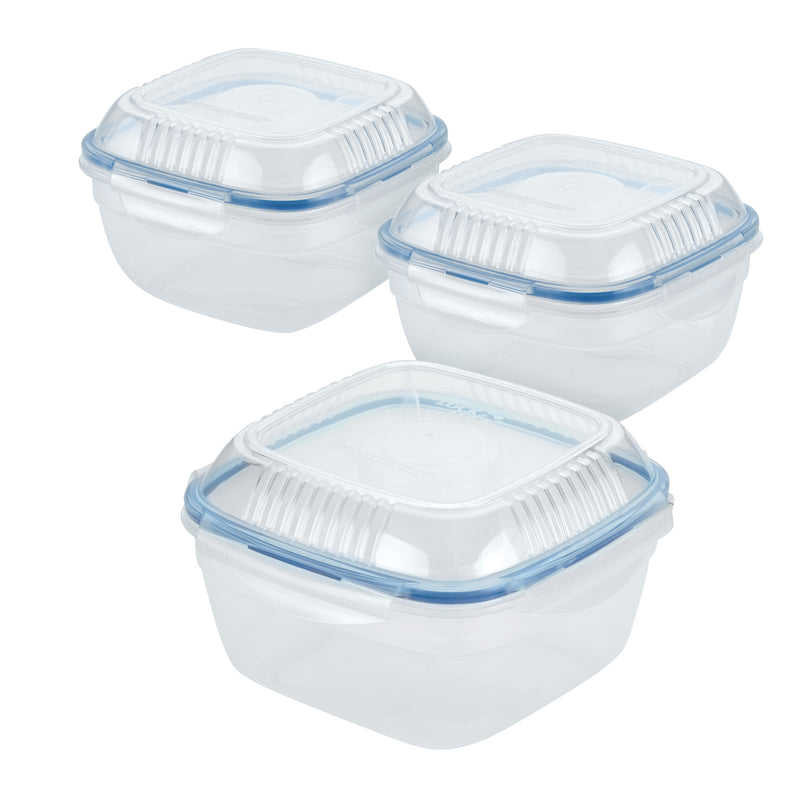 Assorted Salad Bowls with Serving Tray Lids