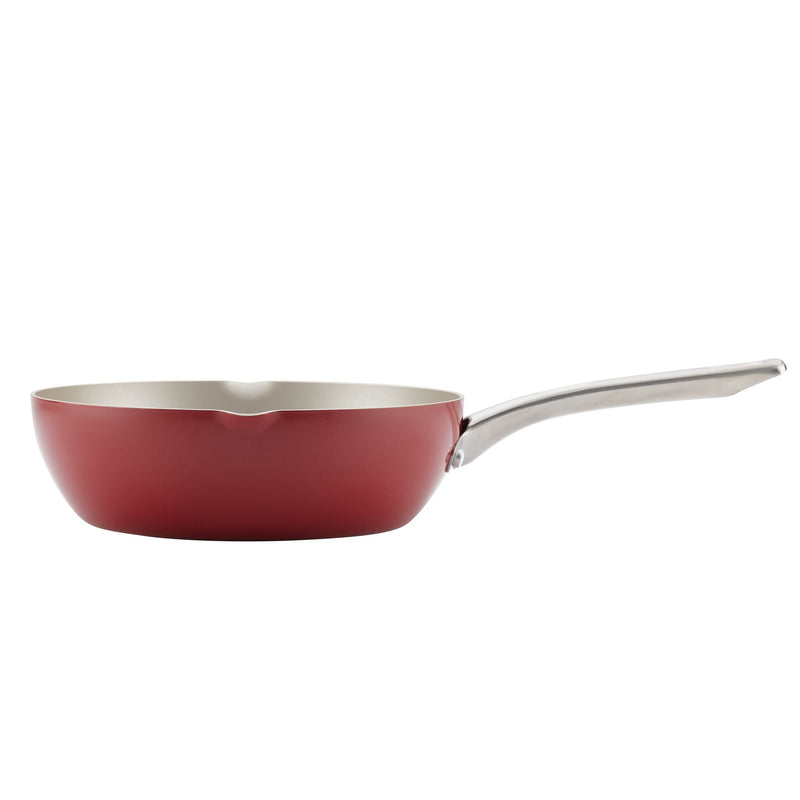 9.75-Inch Nonstick Chef Pan with Pour Spouts
