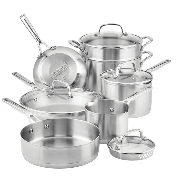 3-Ply Base Stainless Steel 11-Piece Cookware Set