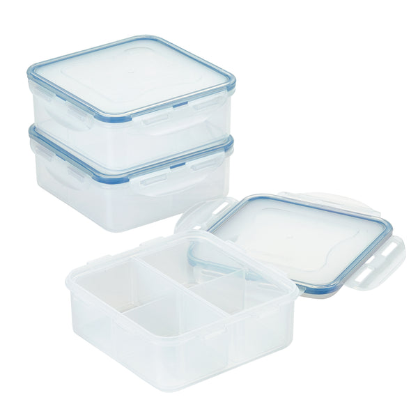 Easy Essentials 2-Piece 29-Oz. Divided Square Container Set