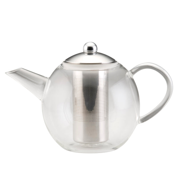 34-Ounce Insulated Glass Teapot with Stainless Infuser