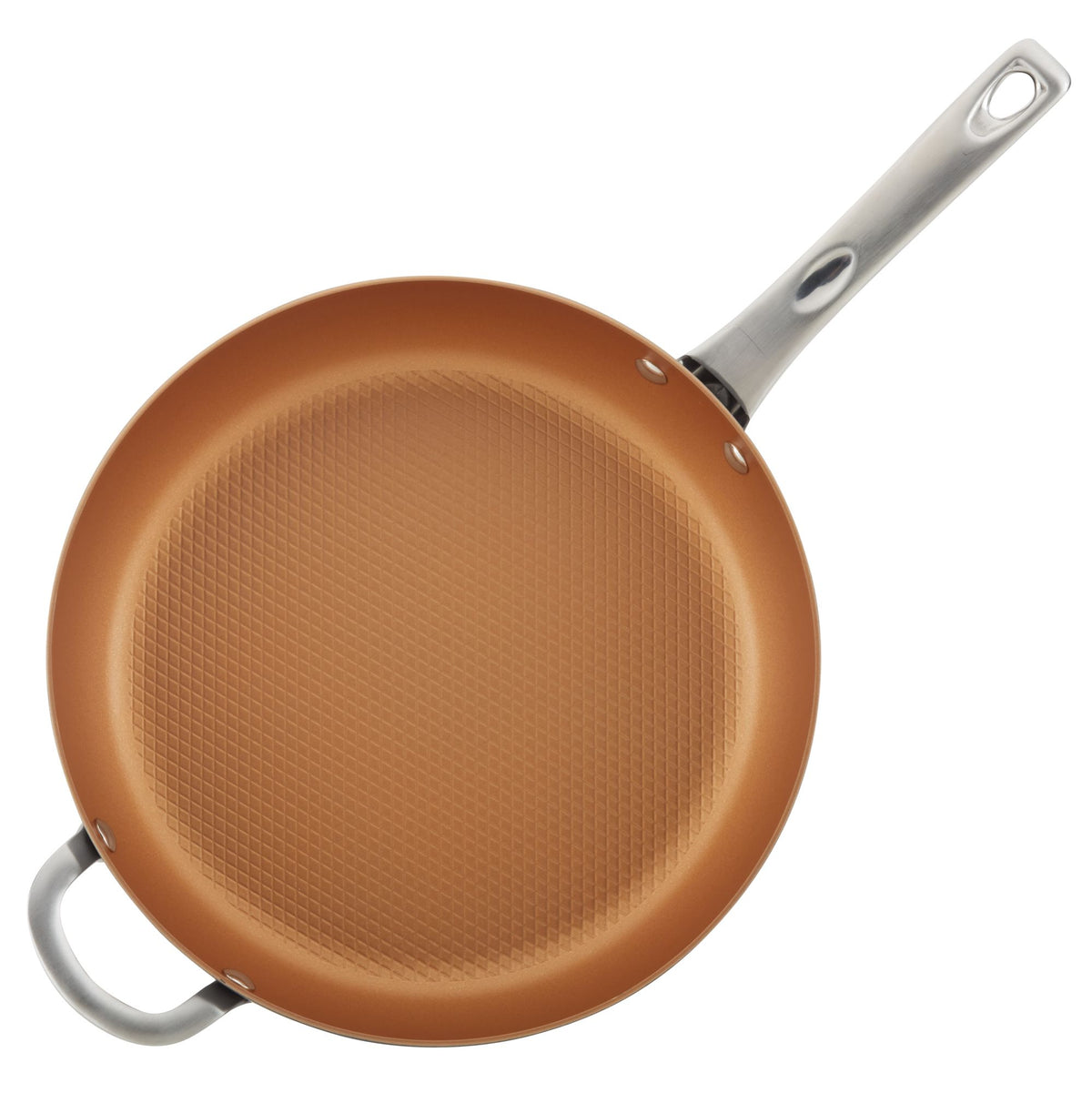 Hard Anodized 12-Inch Nonstick Deep Frying Pan with Helper Handle