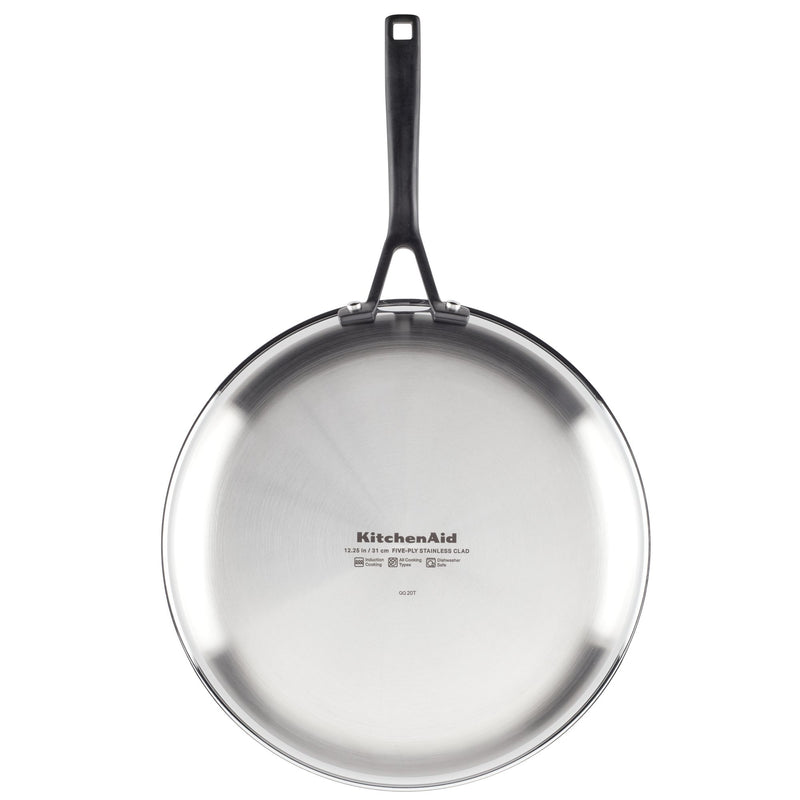 5-Ply Clad Stainless Steel 12.25-Inch Frying Pan