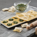12-Imprint Ravioli Press with Mini Rolling Pin