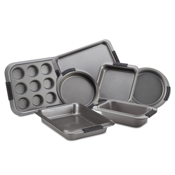 Advanced 7-Piece Bakeware Set with Silicone Grips