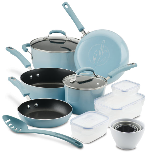 Classic Brights 19-Piece Nonstick Cookware Set