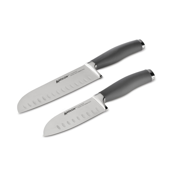 "SureGrip 5"" & 7"" Santoku Knife Set with Sheaths"