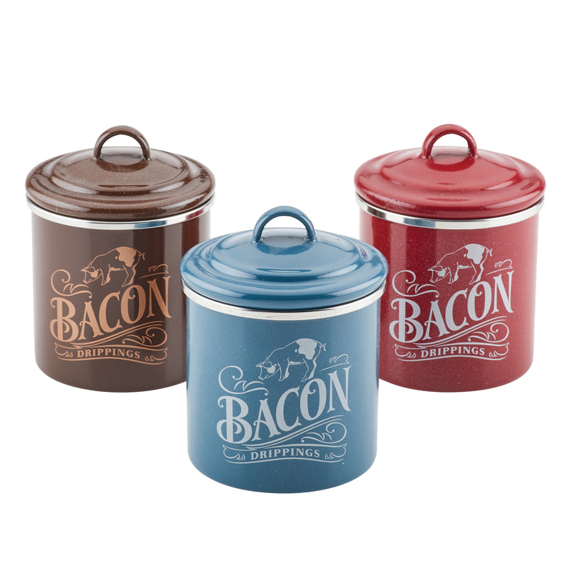 Bacon Grease 3-Piece Can Set