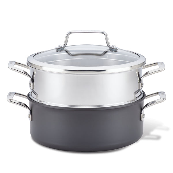 Authority 5-QuartDutch Oven with Lid and Steamer Insert