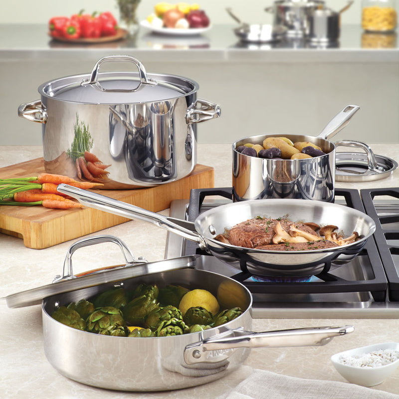 Tri-Ply Clad 5-Quart Sauté with Helper Handle