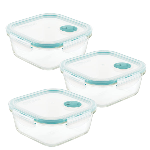 Purely Better™ Glass 3-Piece 25-Oz. Vented Container Set
