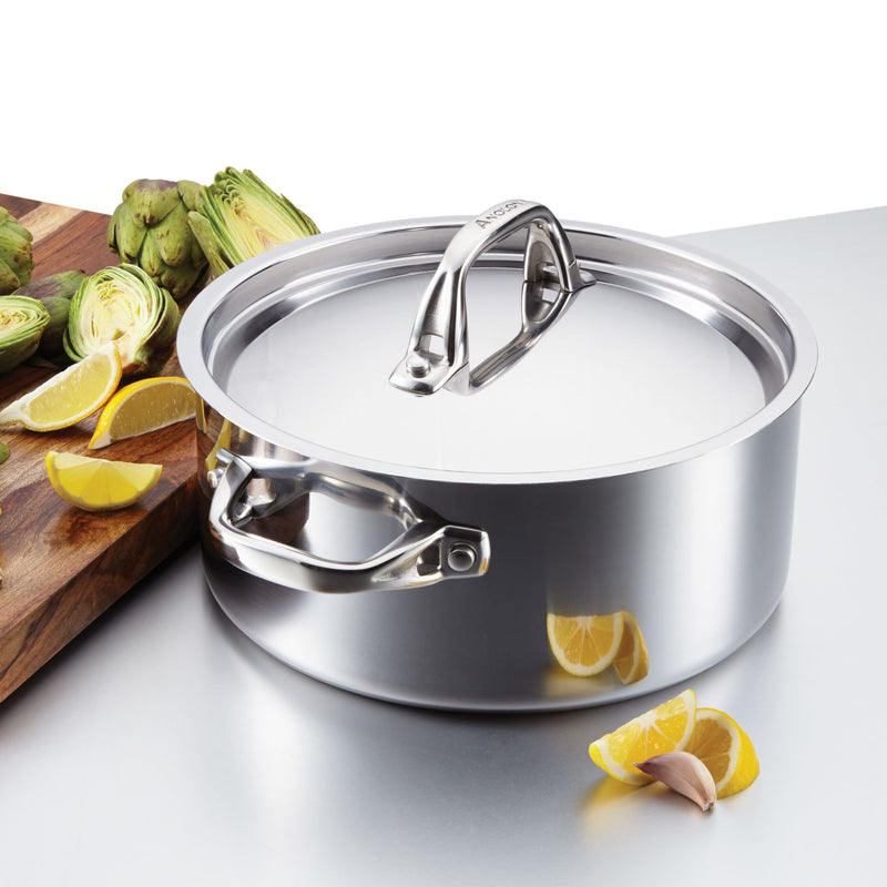 Tri-Ply Clad 5-Quart Dutch Oven with Lid