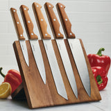 Acacia Magnetic 6-Piece Knife Block Set