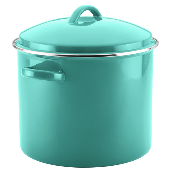 Enamel on Steel 16-Quart Covered Stockpot
