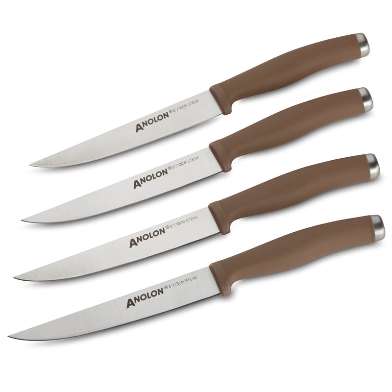 "SureGrip 4-Piece 5"" Steak Knife Set"