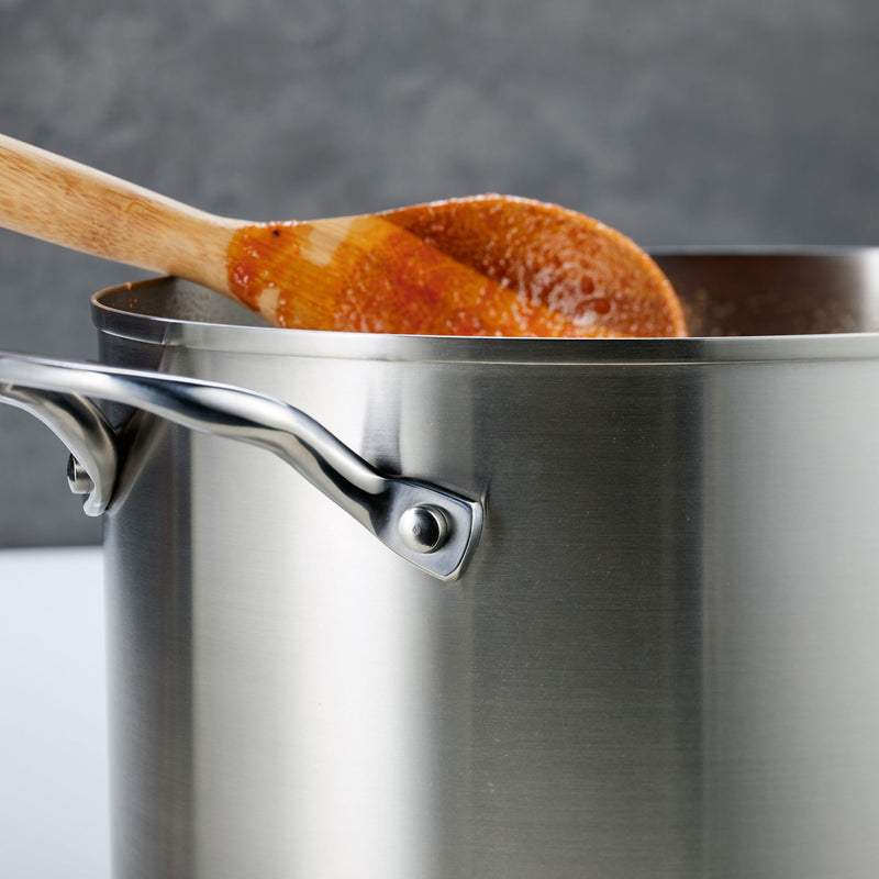 3-Ply Base Stainless Steel 8-Quart Stockpot with Lid