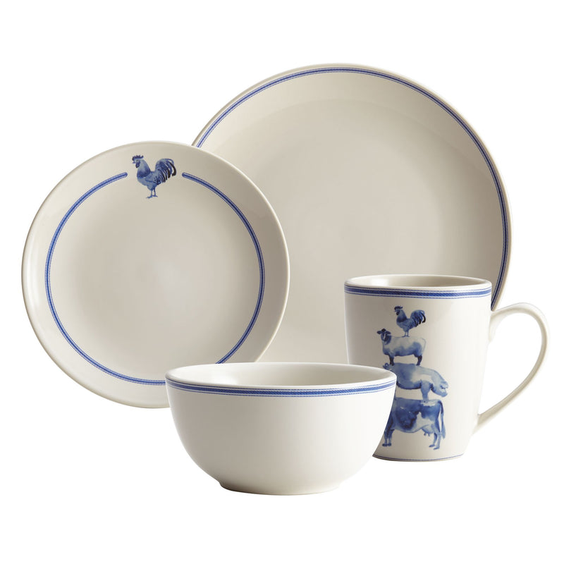 Country Barnyard 16-Piece Dinnerware Set