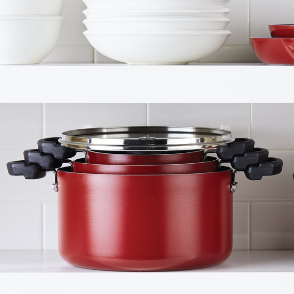 Neat Nest Stacking Covered Saucepot