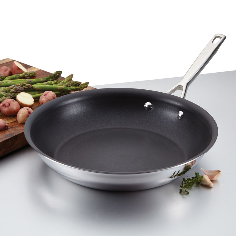 Tri-Ply Clad Nonstick Frying Pan