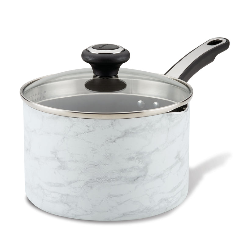 Designs 2-Quart Covered Straining Saucepan