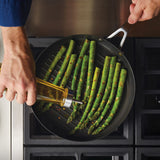 3-Ply Base Stainless Steel 10.25-Inch Nonstick Round Grill Pan